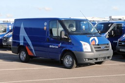 Ford Transit vans carry the blue livery of British Gas (UK)