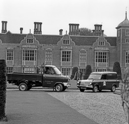 1971 Transit Ford Times Transits at National Trust Property Blickling Hall Aylesham neg 881-2