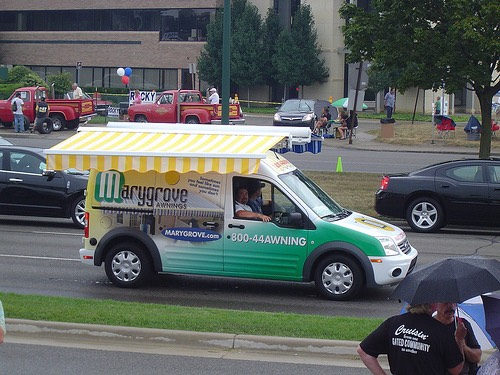 Marygrove Awnings' Ford Transit Connect at Woodward Dream Cruise