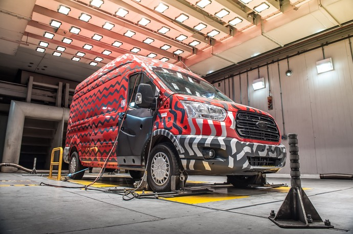 MK8 All-New Ford Transit in the Environmental Test Laboratory at Dunton Technical Centre, Essex (2)